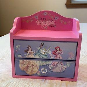 Disney Princess jewelry box, 2 drawers pink/purple